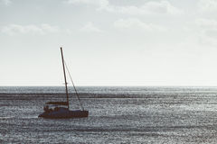 Catamaran in the Sea Stock Photography