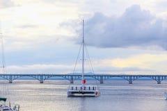 Catamaran in the sea Royalty Free Stock Photo