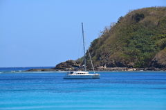 Catamaran at sea Royalty Free Stock Image