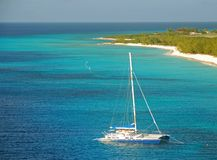 Catamaran in shallow water Royalty Free Stock Photography