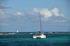 Catamaran in shallow water Stock Photos