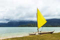 Catamaran At The Shore Royalty Free Stock Image