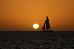 Catamaran sunset Stock Photography