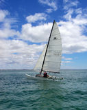 Catamaran under sail Royalty Free Stock Photo
