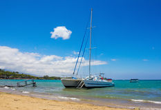 Waikoloa Beach, Big Island, Hawaii. Catamaran at Waikoloa Beach, Big Island, Hawaii Royalty Free Stock Photo