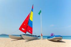 Catamaran wing yacht Stock Photo