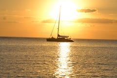 Catamaran zmierzch Obrazy Stock