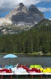 Catamarani sul lago Immagini Stock