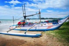 Catamarani tradizionali dello Sri Lanka di pesca Fotografia Stock Libera da Diritti