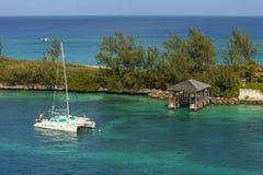 Catamarano in Bahamas Fotografia Stock Libera da Diritti