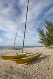 Catamarano Barbados le Antille di navigazione Fotografia Stock Libera da Diritti