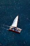 Catamarano di vista aerea Immagini Stock