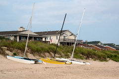 Catamarans on Beach Royalty Free Stock Images