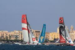 Catamarans at a challenging race Stock Photography