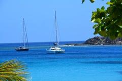 Catamarans en mer Photos libres de droits