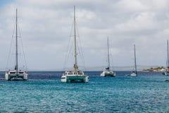 Catamarans i żaglówki Obrazy Royalty Free