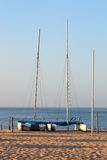 Catamarans lined Stock Image