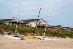 Catamarans na plaży Obrazy Royalty Free