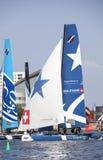 Catamarans op de baaiwateren Royalty-vrije Stock Afbeeldingen