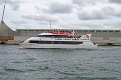Catamaranveerboot Stock Afbeelding