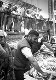 Catane, pêcheur italien sur la poissonnerie Photographie stock