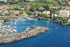 Catane, Sicile - marina d'Ognina Photos libres de droits
