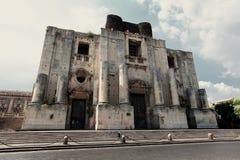 Catania. Chiesa di San Nicolo All'Arena in Catania, Italy stock photos