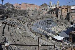Catania, anfiteatro romano Foto de archivo libre de regalías