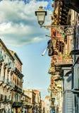 Catania arhitecture - Catania gatasikt Fotografering för Bildbyråer