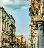 Catania arhitecture - Catania ulicy widok Obraz Royalty Free