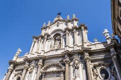 Catania Cathedral Facade, Catania, Sicily, ITALY Royalty Free Stock Photo