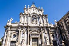 Catania Cathedral Facade, Catania, Sicily, ITALY Royalty Free Stock Photos
