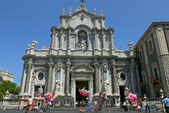 Catania Cathedral, ITALIA. Stock Photography