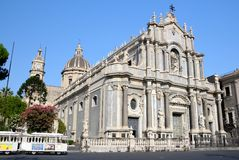 Catania cathedral Santa Agata Stock Photography