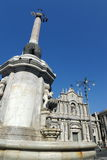 Catania cathedral Santa Agata royalty free stock images