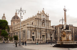 Catania cathedral Royalty Free Stock Photography