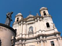 Catania church Santo Francesco Royalty Free Stock Images