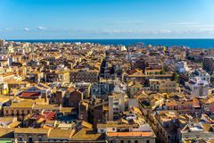 Catania city, Sicily. Aerial view royalty free stock image
