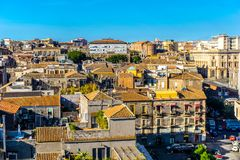 Catania city, Sicily. Rooftop view of buildings royalty free stock images