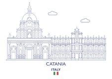 Catania City Skyline, Italy Royalty Free Stock Photography
