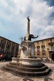 catania dellelefante fontana Royaltyfri Bild