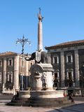 catania elefantspringbrunn Royaltyfri Bild
