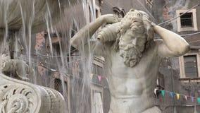 Catania, Fontana dell ` Amenano zbiory wideo