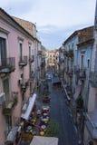 Catania gatasikt Royaltyfri Foto