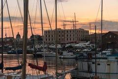 Catania harbor, 2017 Royalty Free Stock Photo