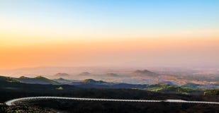 Catania i morgonen Arkivfoton