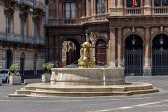 Catania, Italia Ciudad portuaria antigua de Sicilia fotos de archivo