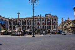 Catania, Italia Ciudad portuaria antigua de Sicilia foto de archivo libre de regalías