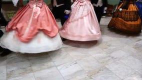 Catania/Italia 24 novembre 2018: balli in costume del XVIII secolo archivi video