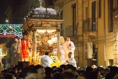 Catania Italien - Februari 05, 2016 Sanka Agatha av Sicilien Royaltyfri Foto